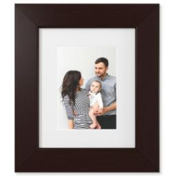 "Thumbnail for 5x7 Photo Matte Print with 8x10 1.5"" Brown Wood Frame with Full Photo design 1"