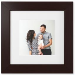 "Thumbnail for 8x8 Photo Matte Print with 12x12 1.5"" Brown Wood Frame with Full Photo design 1"