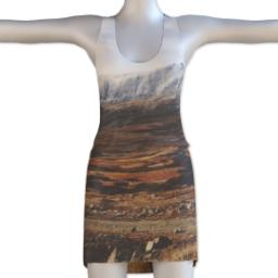 Thumbnail for Photo Racerback Tank Dress (Women L) with Full Photo design 1