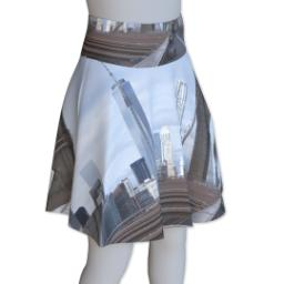Thumbnail for Photo Skater Skirt - Suede (Women L) with Full Photo design 4