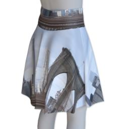 Thumbnail for Photo Skater Skirt - Suede (Women M) with Full Photo design 3