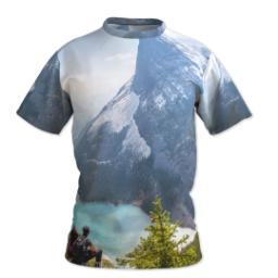 Thumbnail for Photo Short Sleeve T-Shirt (Men M) with Full Photo design 1