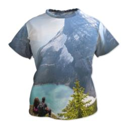 Thumbnail for Photo Short Sleeve T-Shirt (Women L) with Full Photo design 1