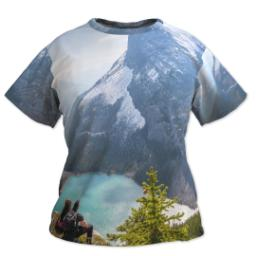 Thumbnail for Photo Short Sleeve T-Shirt (Women XL) with Full Photo design 1