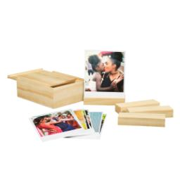 Thumbnail for Retro Prints With Wooden Box (set of 25) with Full Photo design 1