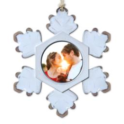 Thumbnail for Rustic Snowflake Ornament with Full Photo design 1