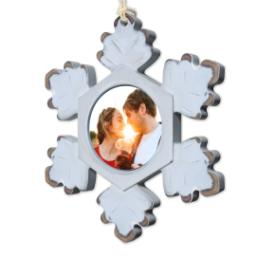 Thumbnail for Rustic Snowflake Ornament with Full Photo design 2