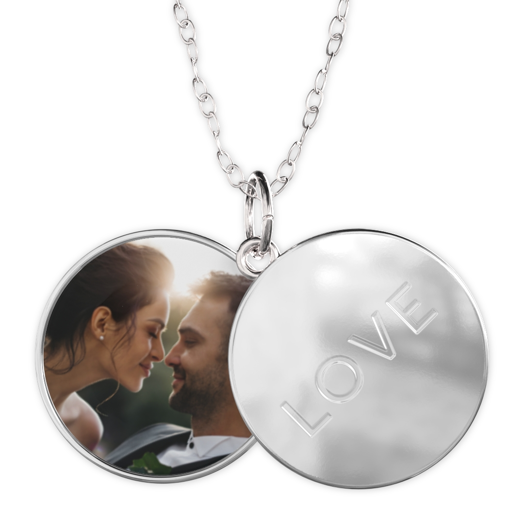 With this sliding photo locket necklace, hold your loved one close by. Inside a charm-style case, this customized picture necklace keeps your favorite photo. This picture charm necklace makes a thoughtful anniversary gift for her/him. Your spouses will never feel alone with this sentimental gift because every time they miss you, all they need to do is take this necklace out and see your picture on it.
