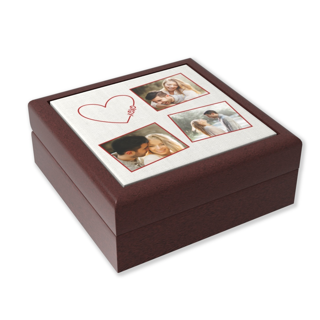 The idea of using wooden gifts to celebrate your fifth wedding anniversary derives from the deep and symbolic wisdom of trees. Your marriage is strong and you have deep, intertwined roots. It represents the eternal love that can exist for many years. The keepsake photo box is made of wood with the same meaning. With this practical gift, your partner can store jewelry or any memorable items.