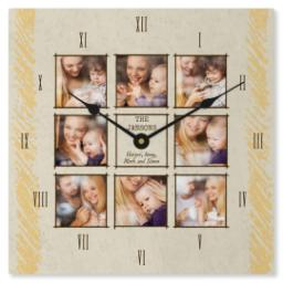 Thumbnail for Metal Photo Wall Clock with Colorful Chalk design 1