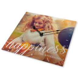 Thumbnail for Metal Photo Wall Clock with Happiness design 2
