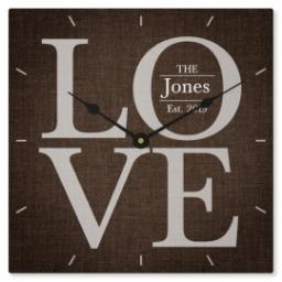 Thumbnail for Metal Photo Wall Clock with Love design 1