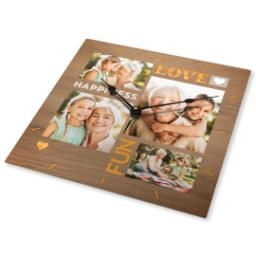 Thumbnail for Metal Photo Wall Clock with Love & Happiness design 2