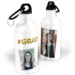 Thumbnail for Photo Water Bottle, 20oz with Balloon Grad design 1