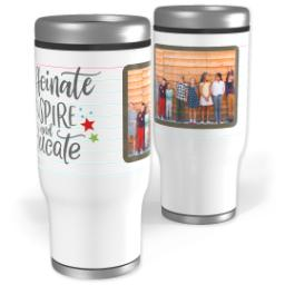 Thumbnail for Stainless Steel Tumbler, 14oz with Favorite Teacher design 1