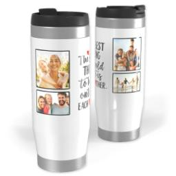 Thumbnail for Premium Tumbler Photo Travel Mug, 14oz with Each Other Hearts design 1