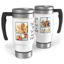 Thumbnail for Stainless Steel Photo Travel Mug, 14oz with Each Other Hearts design 1