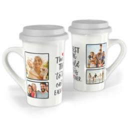 Thumbnail for Premium Grande Photo Mug with Lid, 16oz with Each Other Hearts design 1