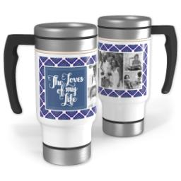 Thumbnail for Stainless Steel Photo Travel Mug, 14oz with Family Loves design 1