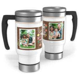 Thumbnail for Stainless Steel Photo Travel Mug, 14oz with Glad You Are Mine design 1