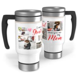 Thumbnail for Stainless Steel Photo Travel Mug, 14oz with Grateful Mom design 1
