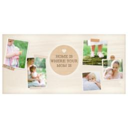 Thumbnail for Premium Tumbler Photo Travel Mug, 14oz with Mom is Home design 2