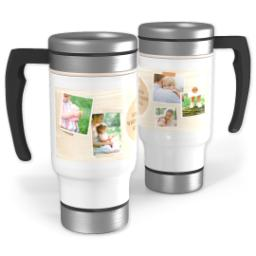 Thumbnail for Stainless Steel Photo Travel Mug, 14oz with Mom is Home design 1