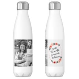 Thumbnail for 17oz Slim Water Bottle with Be Your Own Change design 3