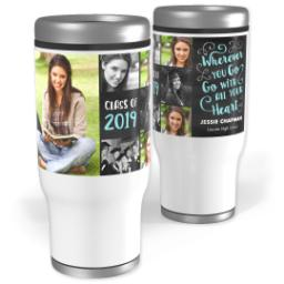 Thumbnail for Stainless Steel Tumbler, 13oz with Creative Spirit design 1