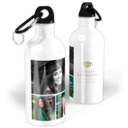 Thumbnail for Photo Water Bottle, 20oz with Grad Hat design 1
