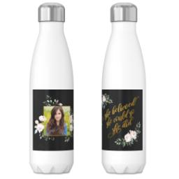 Thumbnail for 17oz Slim Water Bottle with She Believed Black design 3