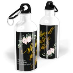 Thumbnail for Photo Water Bottle, 20oz with She Believed Black design 1