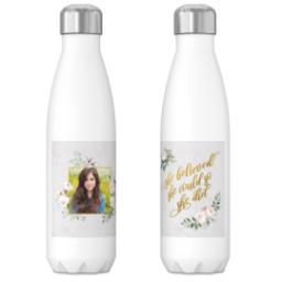Thumbnail for 17oz Slim Water Bottle with She Believed White design 3