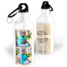 Thumbnail for Photo Water Bottle, 20oz with The World Awaits design 1