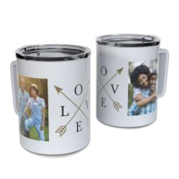 Thumbnail for Insulated Coffee Mug, 11oz with Arrow Love design 1