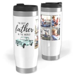 Thumbnail for Premium Tumbler Photo Travel Mug, 14oz with Best Father design 1
