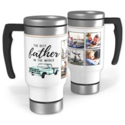 Thumbnail for Stainless Steel Photo Travel Mug, 14oz with Best Father design 1