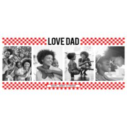 Thumbnail for Stainless Steel Photo Travel Mug, 14oz with Dad Checkers Red design 2