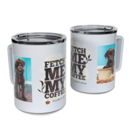 Thumbnail for Insulated Coffee Mug, 11oz with Fetch design 1