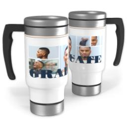 Thumbnail for Stainless Steel Photo Travel Mug, 14oz with Graduate Multi design 1