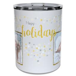 Thumbnail for Insulated Coffee Mug, 11oz with Happy Holidays Confetti design 2