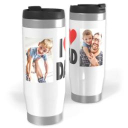 Thumbnail for Premium Tumbler Photo Travel Mug, 14oz with I Heart Dad design 1