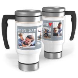 Thumbnail for Stainless Steel Photo Travel Mug, 14oz with Loved Hero design 1