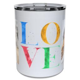 Thumbnail for Insulated Coffee Mug, 11oz with Love Splatter design 2