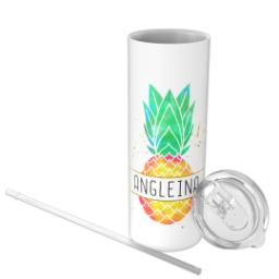 Thumbnail for Tumbler with Straw, 20oz with Pineapple design 3