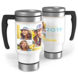 Thumbnail for Stainless Steel Photo Travel Mug, 14oz with Spring Time Grad design 1