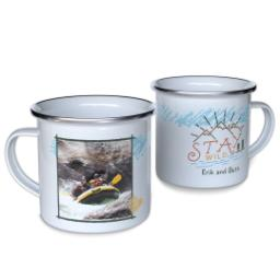 Thumbnail for 12oz Enamel Campfire Mug with Stay Wild design 1