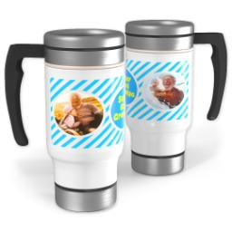 Thumbnail for Stainless Steel Photo Travel Mug, 14oz with Super Cool design 1
