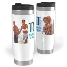 Thumbnail for Premium Tumbler Photo Travel Mug, 14oz with This Grandpa design 1