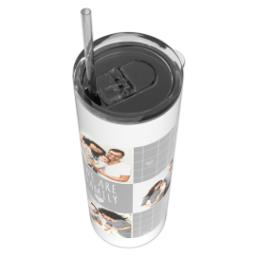 Thumbnail for Tumbler with Straw, 20oz with We Are Family design 4